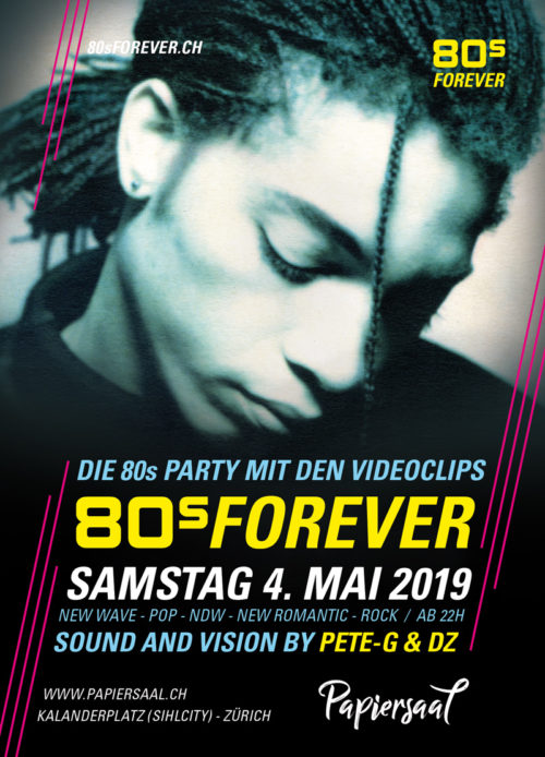 80s Forever Party Papiersaal Sihlcity Zürich 80er Party