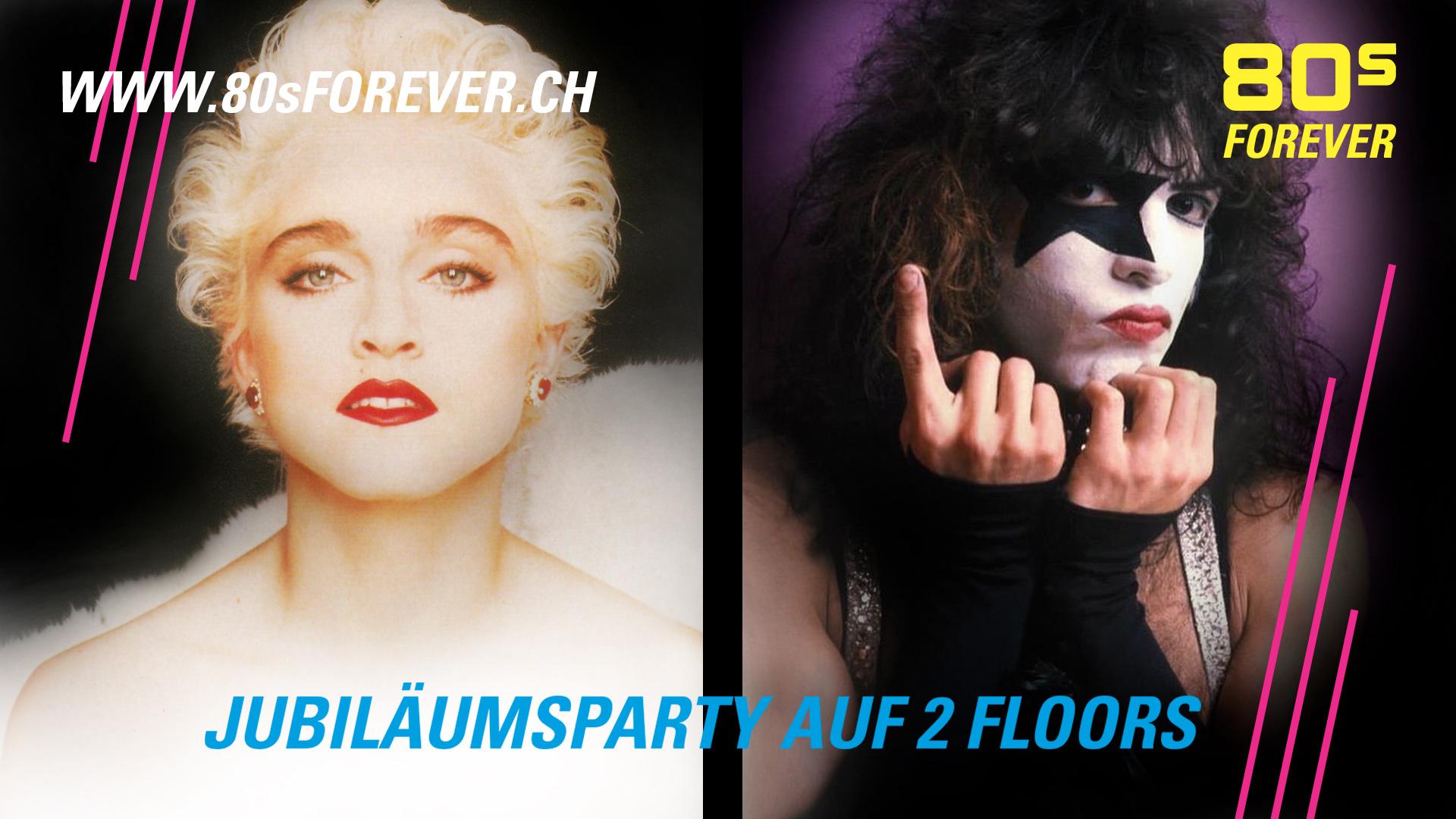 80s Forever Jubiläumsparty auf zwei Floors
