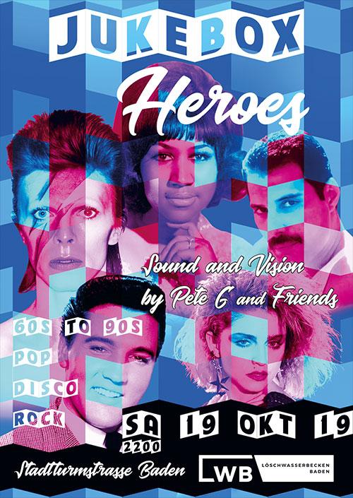 Jukebox Heroes - Die neue Partyreihe im LWB Löschwasserbecken Baden 19. Oktober 2019