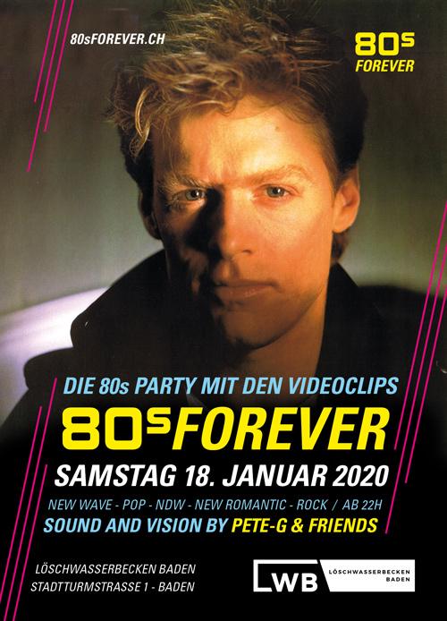80s Forever 18. Januar 2020 LWB Baden 80er Party